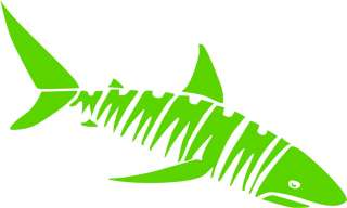 Tribal Shark Vinyl Die Cut Decal   18 colors