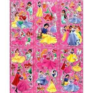 Ariel Snow White Cinderella Aurora GREAT FOR PARTY FAVOR 6 in 1 sheet