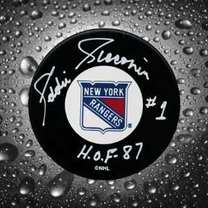 Ed Giacomin New York Rangers Autographed Puck Sports