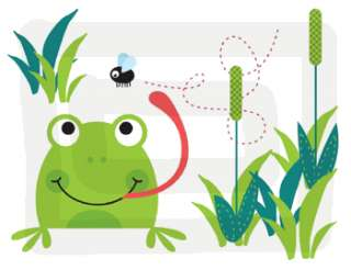 FROGS FROGGY TURTLES BABY WALL BORDER STICKERS DECALS