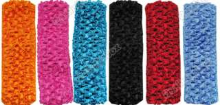 New Colorful Cute 12 pcs 1.5 Crochet Headbands Hair Bow for Baby