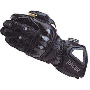 Racer High End Leather Gloves   Large/Black Automotive