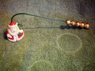 Holiday CHRISTMAS Old Fashioned SANTA Candle SNUFFER