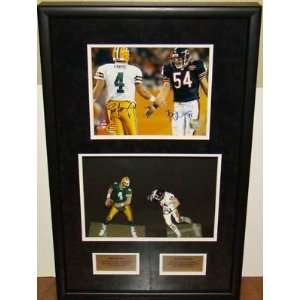 Brett Favre Brian Urlacher SIGNED CUSTOM Framed Display