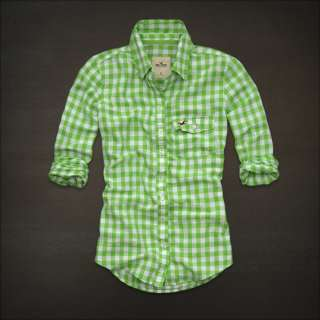 NWT HOLLISTER Abercrombie Womens HAMMERLAND Check Shirts Top Shirt S M