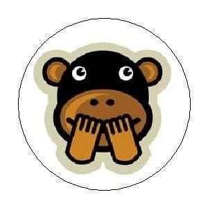 LAUGHING MONKEY Chimp Chimpanzee Comedy Funny Joke Pinback Button 1.25