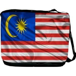 Rikki KnightTM Malaysia Flag Messenger Bag   Book Bag