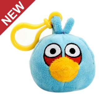 BLUE ANGRY BIRDS ROVIO LICENSED PLUSH TOY CLIP ON