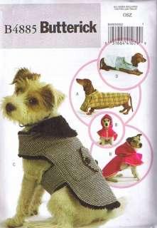 B4885 Pattern Pet DOG Coat Butterick