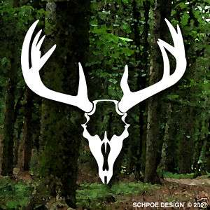 HUGE Monster DEER SKULL Decal Buck hunting antlers rack