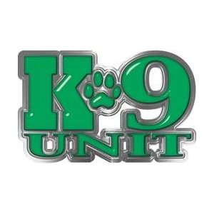 REFLECITVE K9 Unit with Dog Paw Law Enforcement Decal in Green   11.5