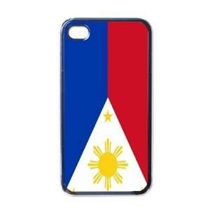 Philippines Flag Black Iphone 4   Iphone 4s Case