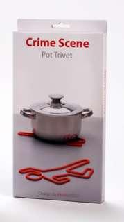 Peleg Crime Scene Silicone Trivet Hot Pot Holder Red