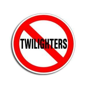 NO TWILIGHTERS   Anti   Window Bumper Laptop Sticker