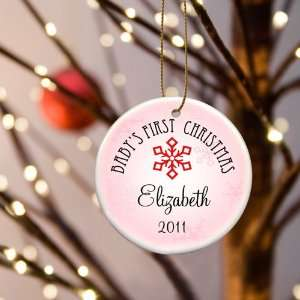 Wedding Favors Baby Girls First Christmas Personalized Ornament Style