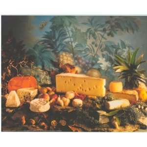 Cheese Swiss Chevre Chedder   Photography Poster   16 x 20: