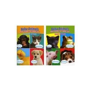 Baby Animals Ready to Play & Cute & Cuddly Coloring Book 2