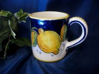 DERUTA ITALY Italian Pottery TUSCAN LEMONS Coffee Mug Coffee Cup