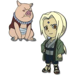 Naruto: Tsunade and Tonton Anime Pin Set: Toys & Games