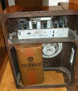 General Electric Floor Model Tube Radio H 87 1939 1940 Working