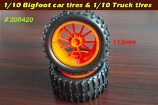 200420 for 1/10 RC Bigfoot car & Truck rubber tires