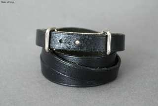 HAPI Black Leather Bracelet Triple / Quadruple Wrap w/ Box