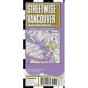 Vancouver Map   Laminated City Center Street Map of Vancouver