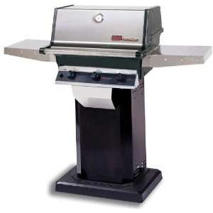 Trg2 Infrared Natural Gas Grill W/ Searmagic Grids On Black Patio Base