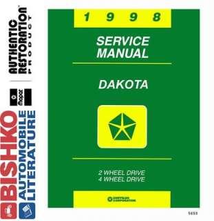 1998 DODGE DAKOTA TRUCK Shop Service Repair Manual CD