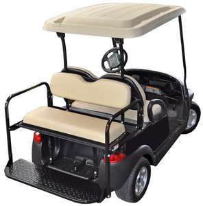 Rear Flip Seat Club Car Precedent (Buff in color) Golf Cart 2 n 1 Flip