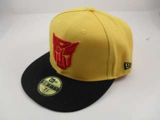 New ERA Transformers Autobot Fitted Yellow Cap Hat with Black Brim