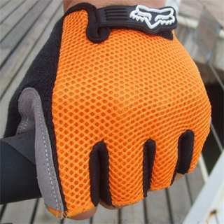 2012 Cycling Bike Bicycle Half Finger Gloves Orange Size M, L, XL