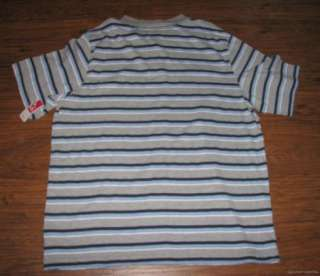 NEW Mens OPEN TRAILS Casual Blue Grey Black Stripe Polo Shirt XXL 2XL