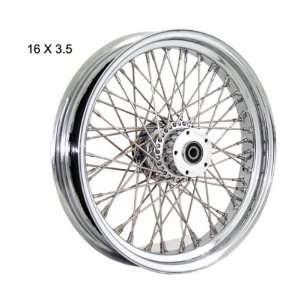 16X3.5 SPRINGER 00 11 Chrome Billet Sealed 40 Spoke Rear Wheel