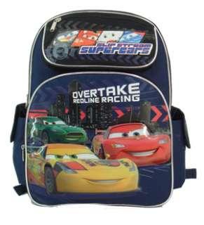 NEW Cars 2 Overtake Large School Bag Boys Kids Cosplay Licensed