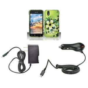 LG Marquee (Sprint / Boost Mobile) Premium Combo Pack   Green Hibiscus