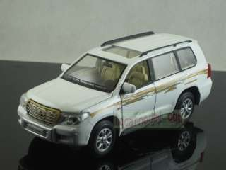 32 Toyota Land Cruiser white pull back car Metal Die Cast model