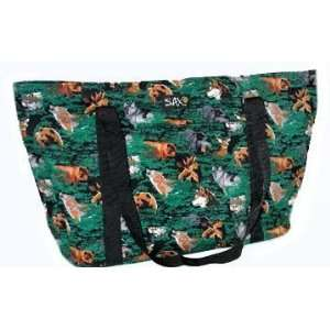 Wolf Bear Deer Outdoors Theme Deluxe Tote Bag by Broad Bay