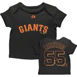Tim Lincecum San Francisco Giants Newborn Black Name and