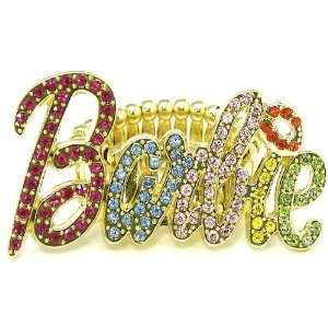 Nicki Minaj Barbie Iced Out Stretch Band Ring Multi With