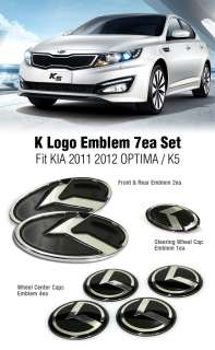 Logo Emblem 7ea Set Fit KIA 2011 2012 Optima K5