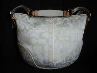 NWT COACH LADY BEE WHITE OPTIC LARGE HOBO PURSE BAG