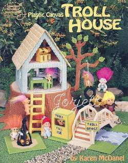 Troll House Playset plastic canvas patterns OOP new