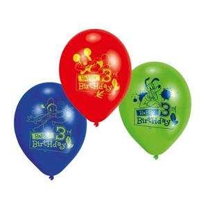 Mickey Mouse Happy 3rd Birthday Latex 9 Balloons x 6