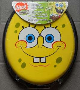 Spongebob Grin Soft Cushioned Toilet Seat Round Ginsey