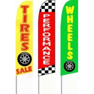 Ad Banner Flutter Flag 16 Complete Kit, Wheels/Tires 3