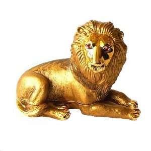 Leo the Lion King Box Swarovski Crystals 24K Gold Jewelry