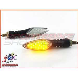 Black Bend LED Motorcycle Turn Signals Tail Tidy Universal