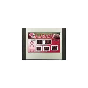 Alabama Crimson Tide NCAA Scoreboard Clock & Thermometer