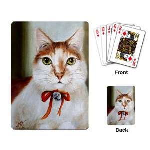 Limited Edition Violano Playing Cards Christmas Jingle Cat